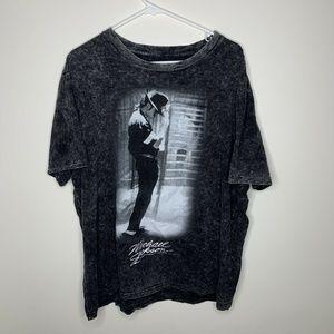 Mens 2XL Michael Jackson King of Pop Grey Shirt